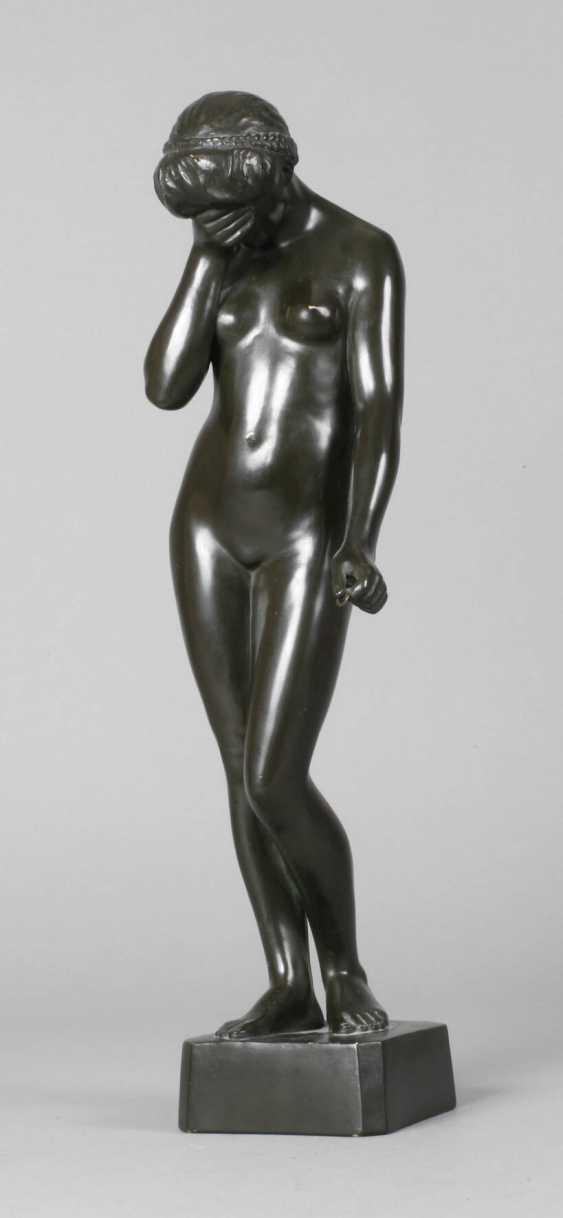 Ceramic figure of a standing female Nude - photo 1