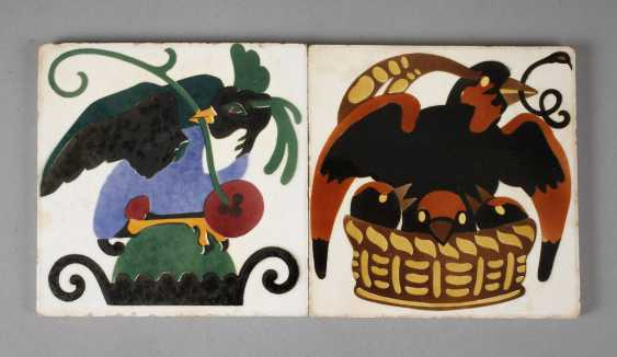 Meissen Teichert two tiles with bird motifs - photo 1