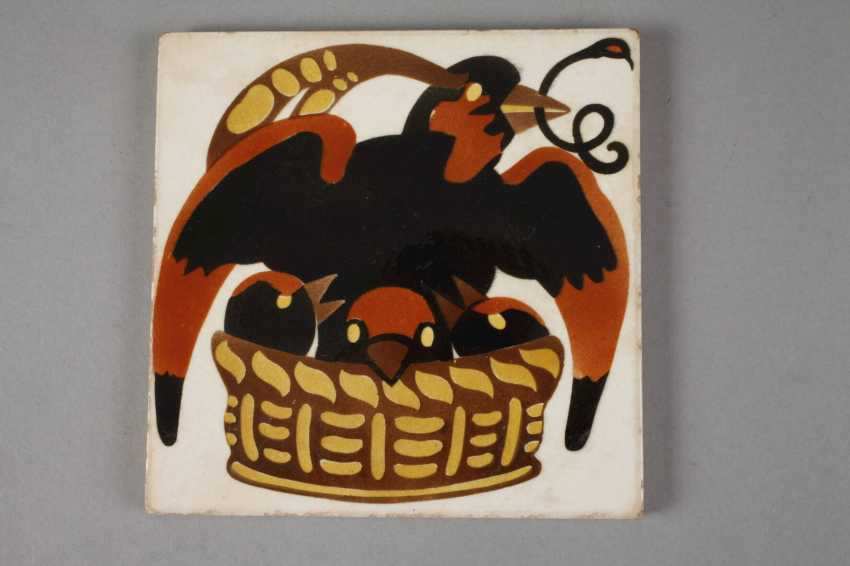Meissen Teichert two tiles with bird motifs - photo 3