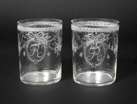 Two neo-classical drinking glasses - photo 1