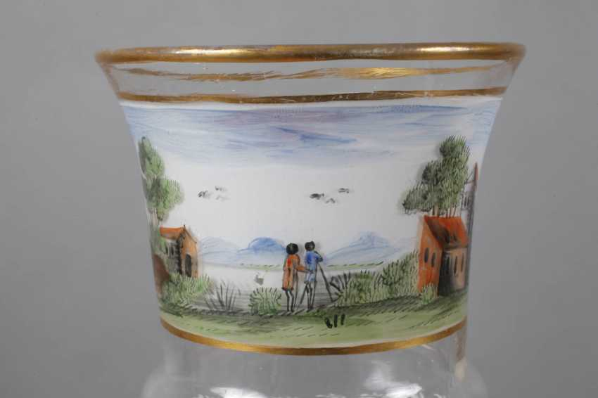 Glass Cup with landscape painting - photo 2