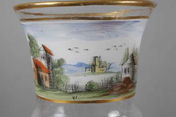 Glass Cup with landscape painting - photo 3