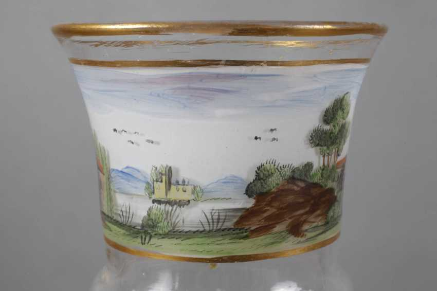 Glass Cup with landscape painting - photo 4