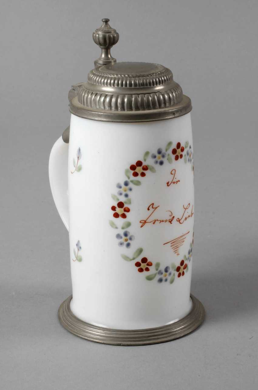 Milk glass pitcher - photo 1