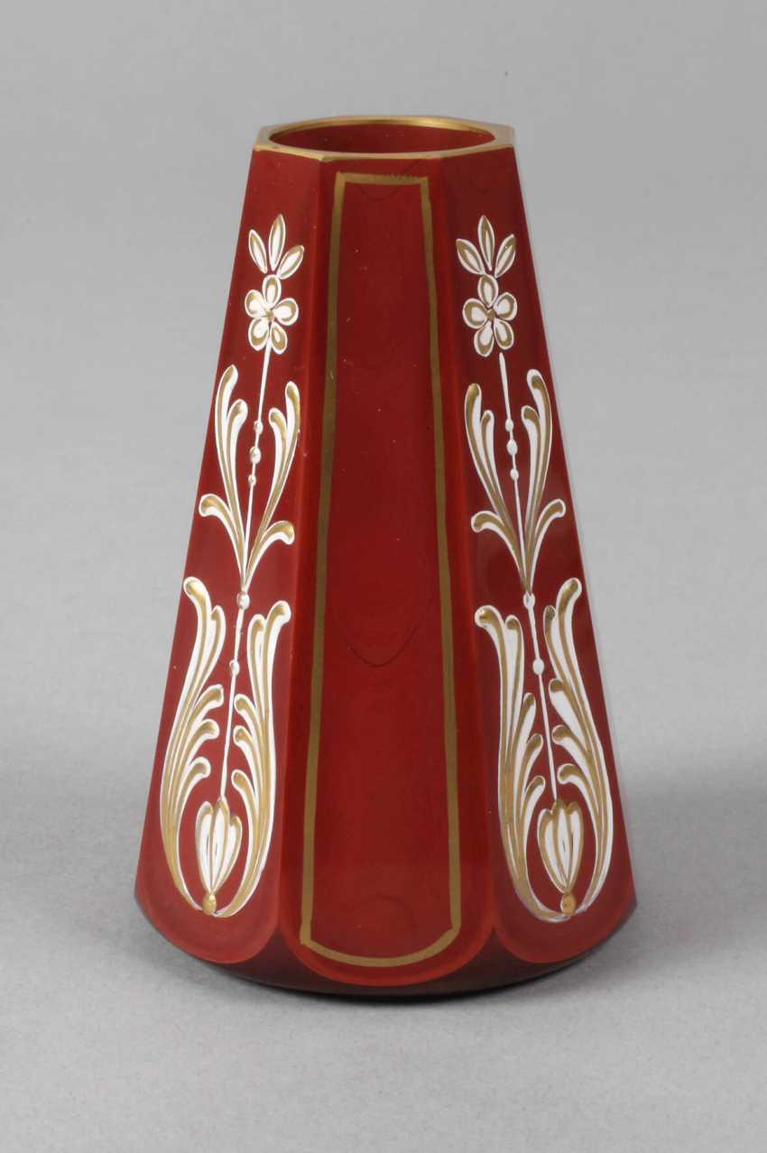 Friedrich Egermann small stone glass vase - photo 1