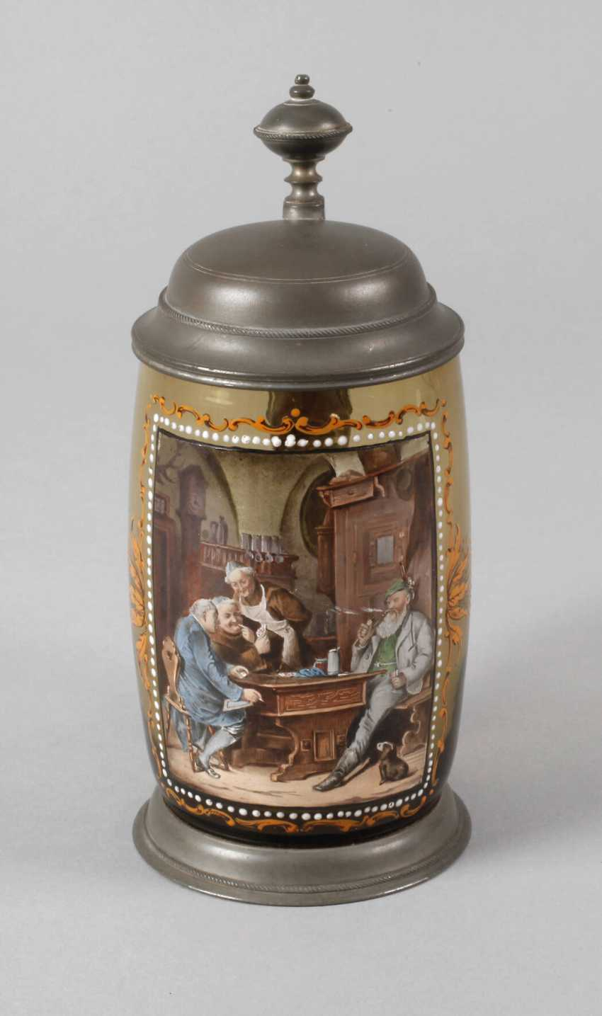 Beer mug with a tavern scene - photo 1