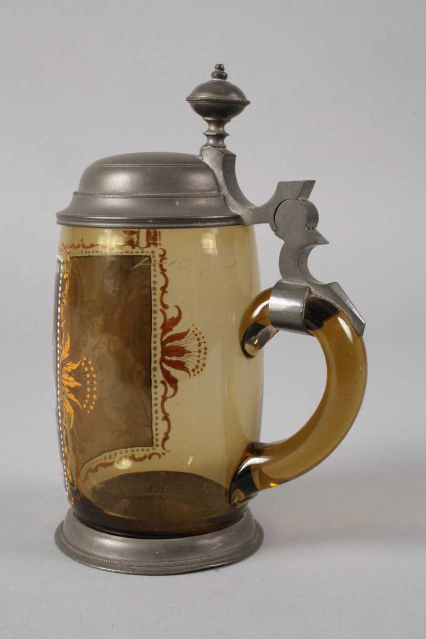 Beer mug with a tavern scene - photo 2