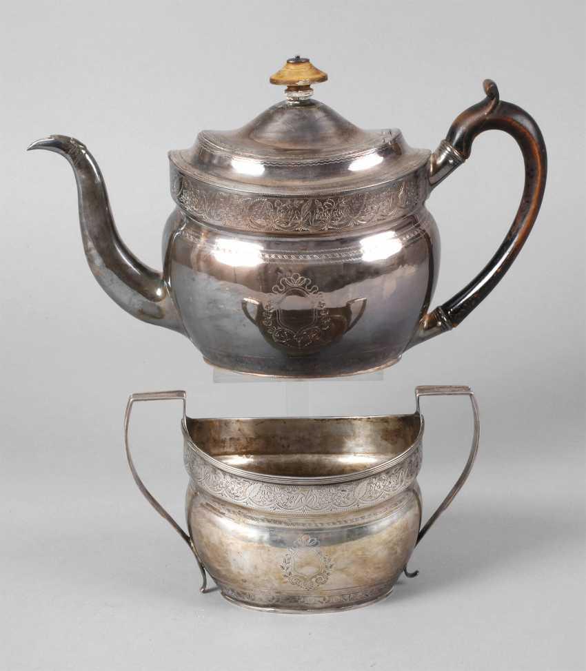 England silver pot and handle bowl - photo 1