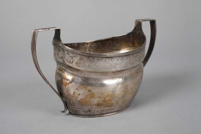 England silver pot and handle bowl - photo 4