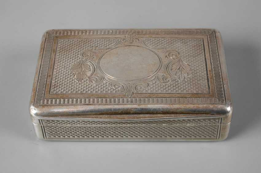 Silver small anatomical snuffbox historicism - photo 1