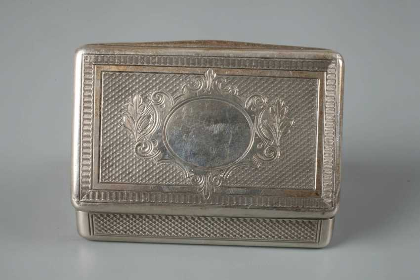 Silver small anatomical snuffbox historicism - photo 2