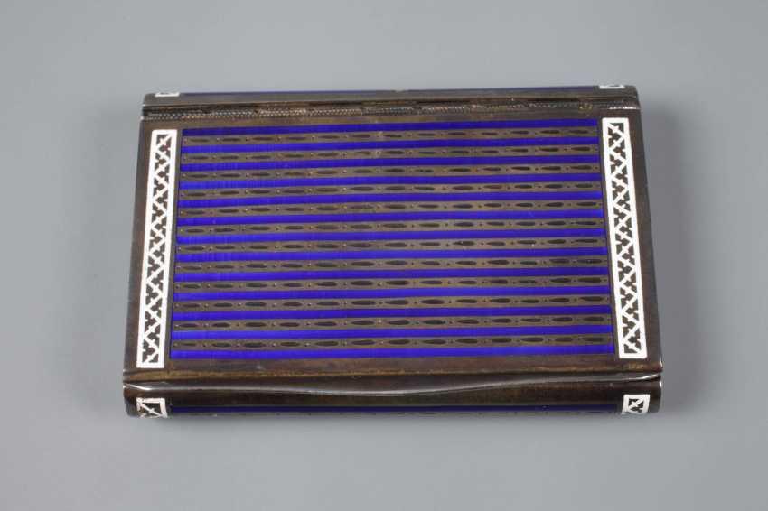 Cigarette case silver and enamel - photo 2