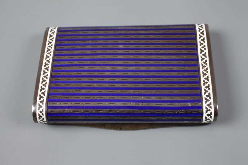 Cigarette case silver and enamel - photo 3