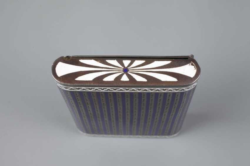 Cigarette case silver and enamel - photo 4