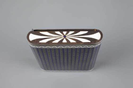 Cigarette case silver and enamel - photo 5