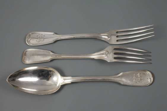 Silver-six-menu, spoon and dining forks - photo 2