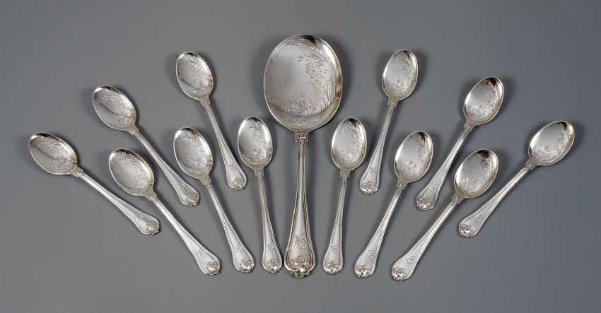 Silver 13-piece ice cream spoon Cutlery - photo 1