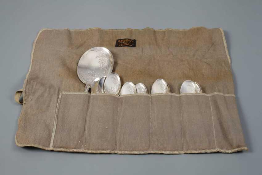 Silver 13-piece ice cream spoon Cutlery - photo 4