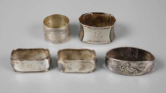 Four Napkin Rings Silver - photo 1