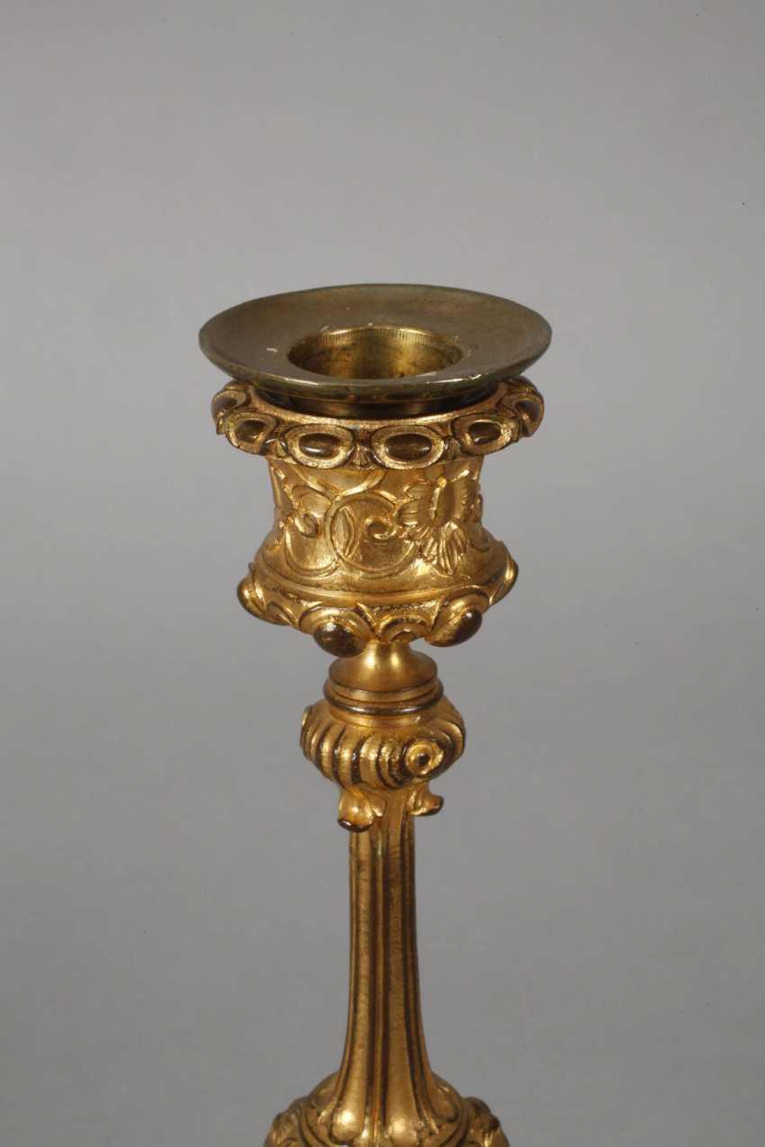 Pair of gilt bronze candlesticks - photo 3