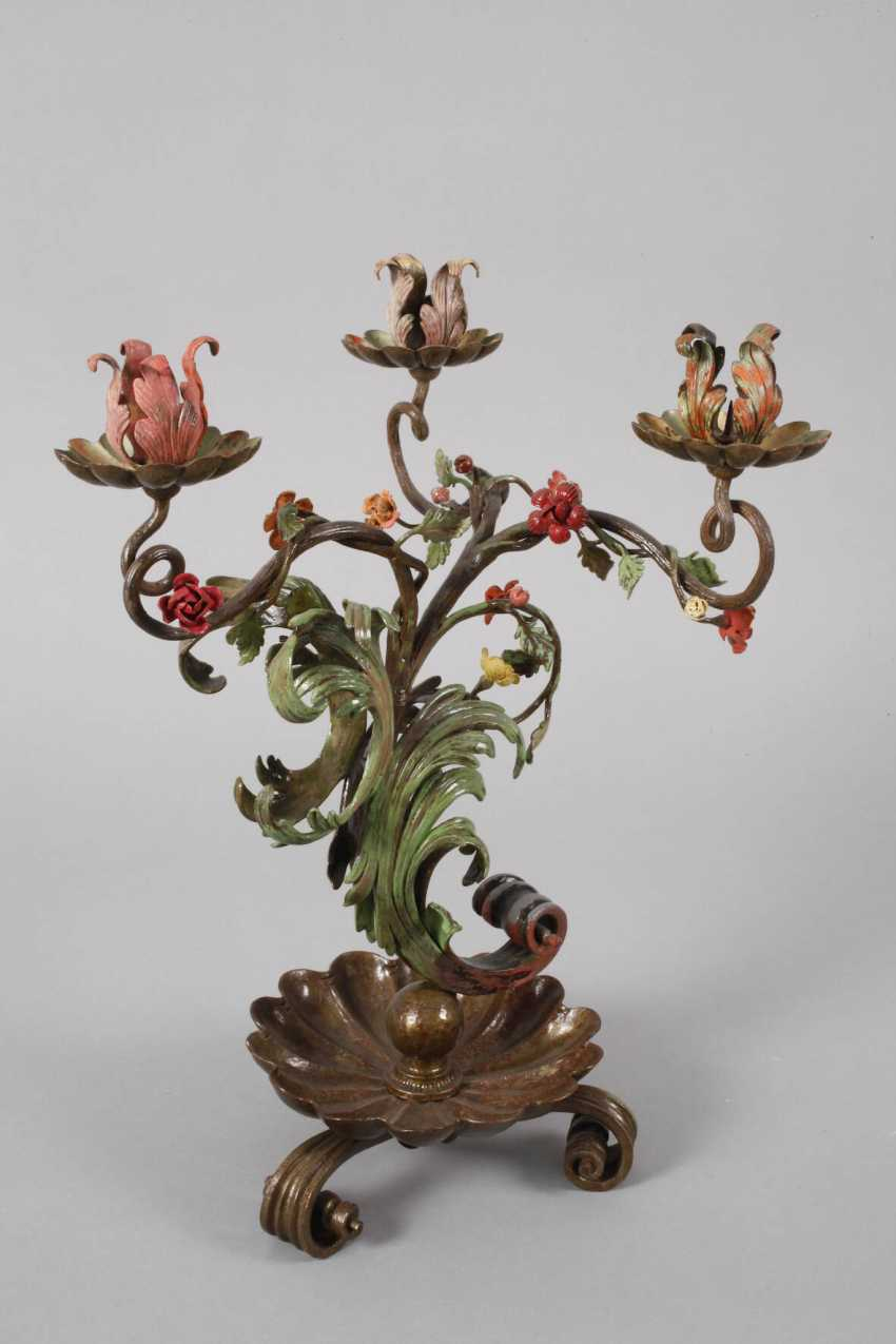 Pair of wrought iron candle chandelier - photo 2