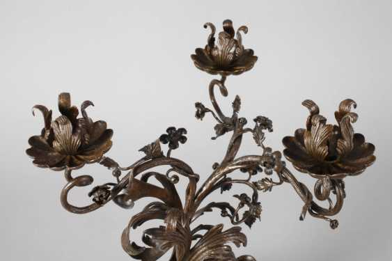 Pair of wrought iron candle chandelier - photo 4