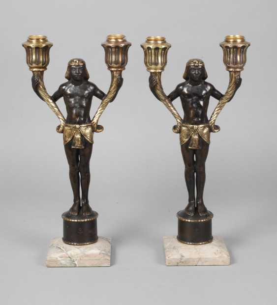 Pair of figural candelabras Bronze - photo 1