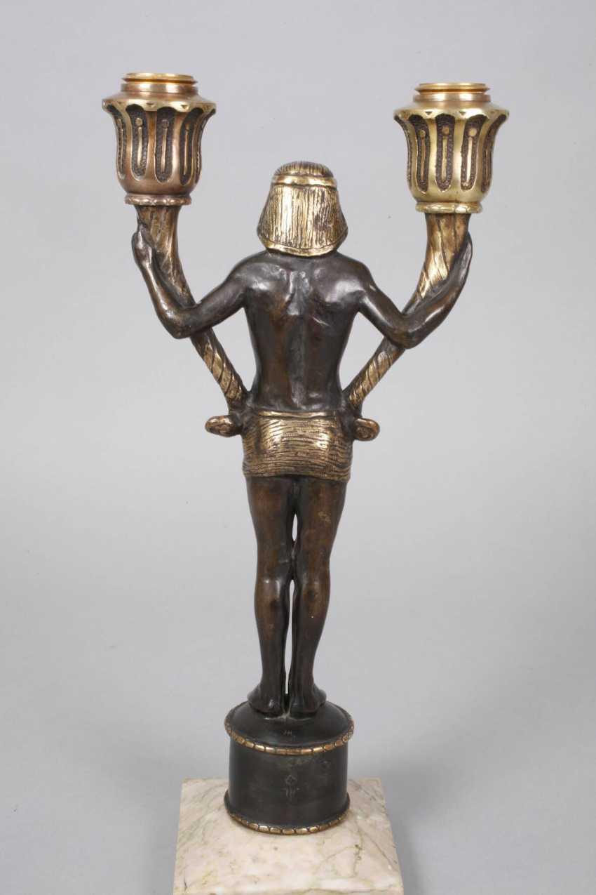 Pair of figural candelabras Bronze - photo 4