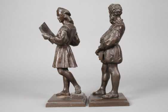 Pair Of Cast Iron Figures - photo 3