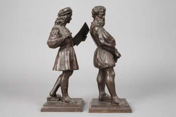 Pair Of Cast Iron Figures - photo 5