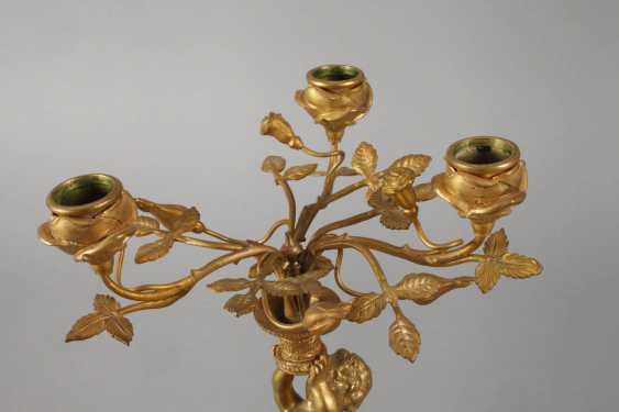 Pair of bronze chandeliers with cherubs - photo 2