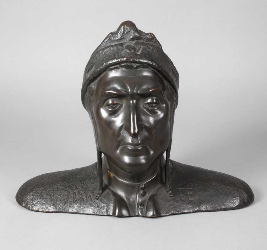 after Sabatino de Angelis, bust of Dante Alighieri - photo 1