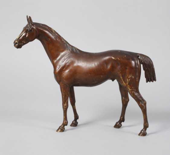Large Vienna Bronze standing stallion - photo 1