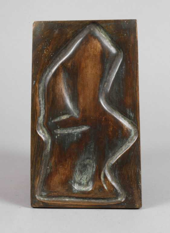 George Kovats, abstract bronze plate - photo 1