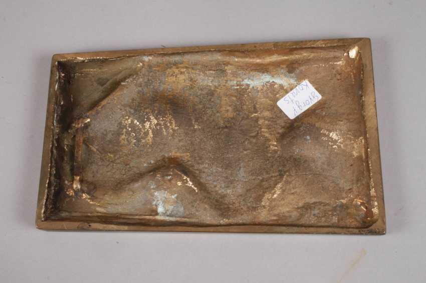 George Kovats, abstract bronze plate - photo 2