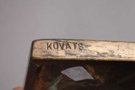 George Kovats, abstract bronze plate - photo 3