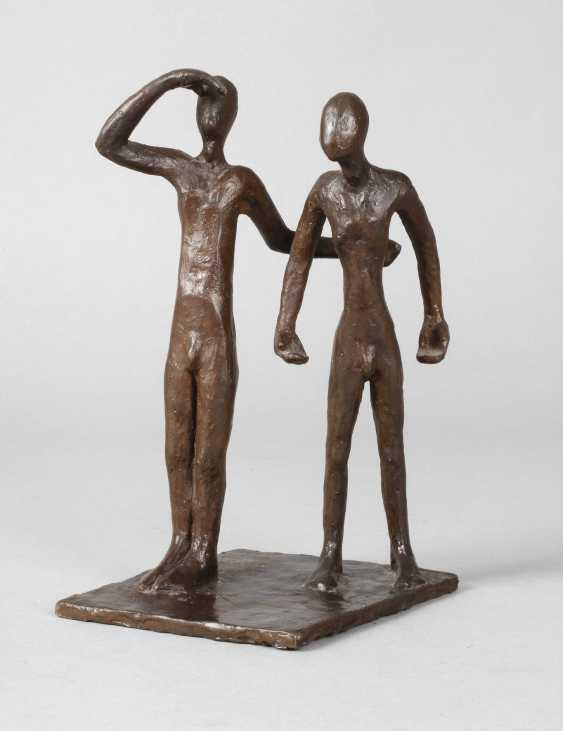 Oskar Höfinger attributed to modern bronze group - photo 1