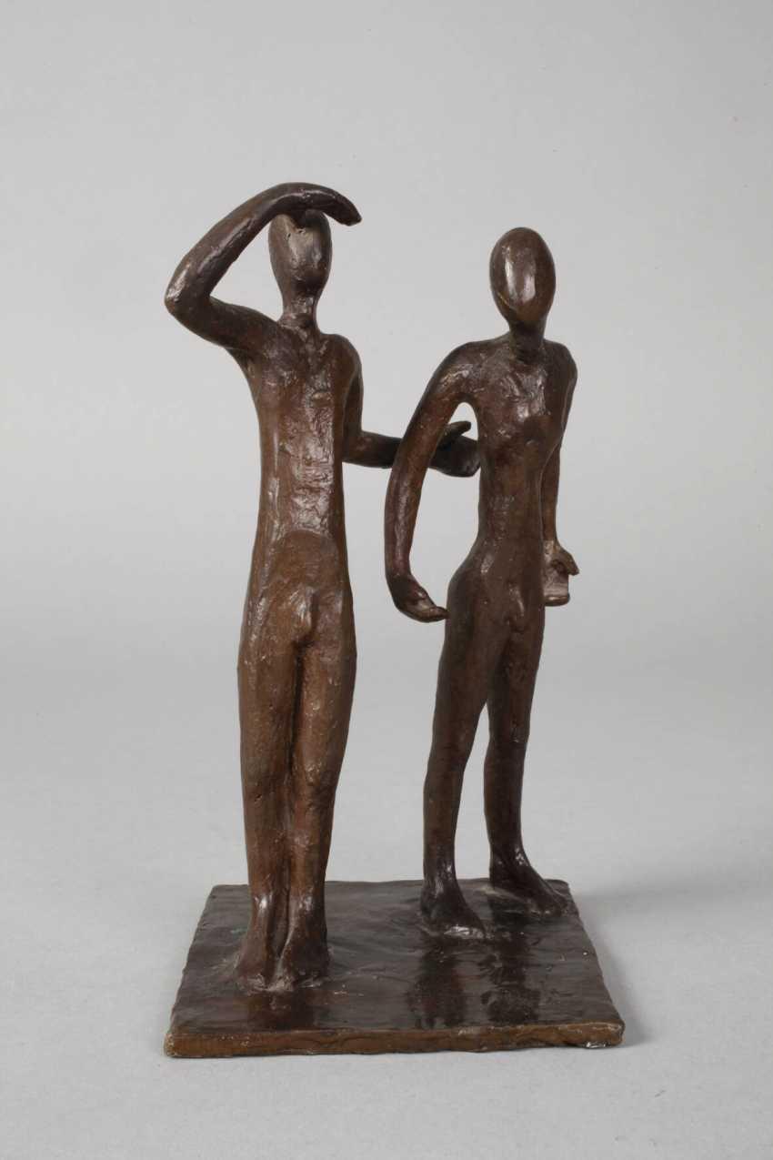 Oskar Höfinger attributed to modern bronze group - photo 2