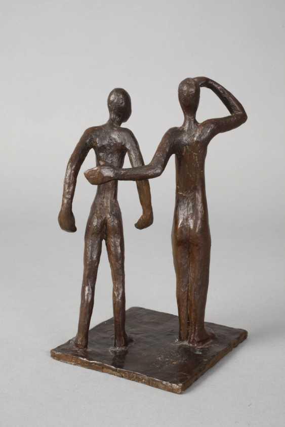 Oskar Höfinger attributed to modern bronze group - photo 3