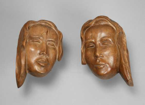 G. Schrey, two women's heads as a relief - photo 1