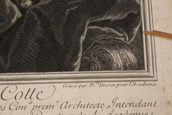 Pierre Drevet, Bildnis Robert de Cotte - photo 3