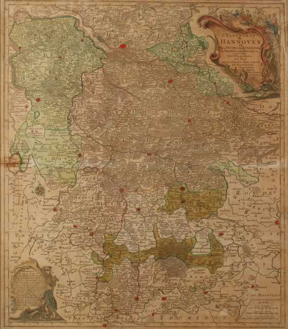 Tobias Lotter, Copper Engraving Map Of Northern Germany - photo 1