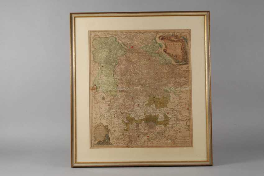 Tobias Lotter, Copper Engraving Map Of Northern Germany - photo 2
