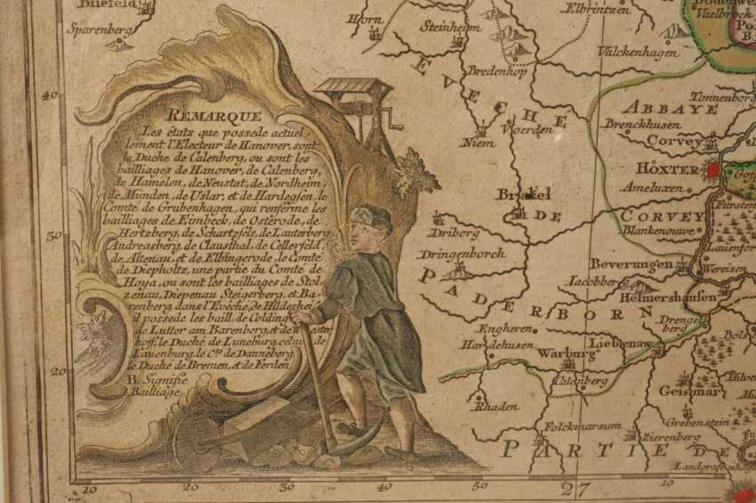 Tobias Lotter, Copper Engraving Map Of Northern Germany - photo 3