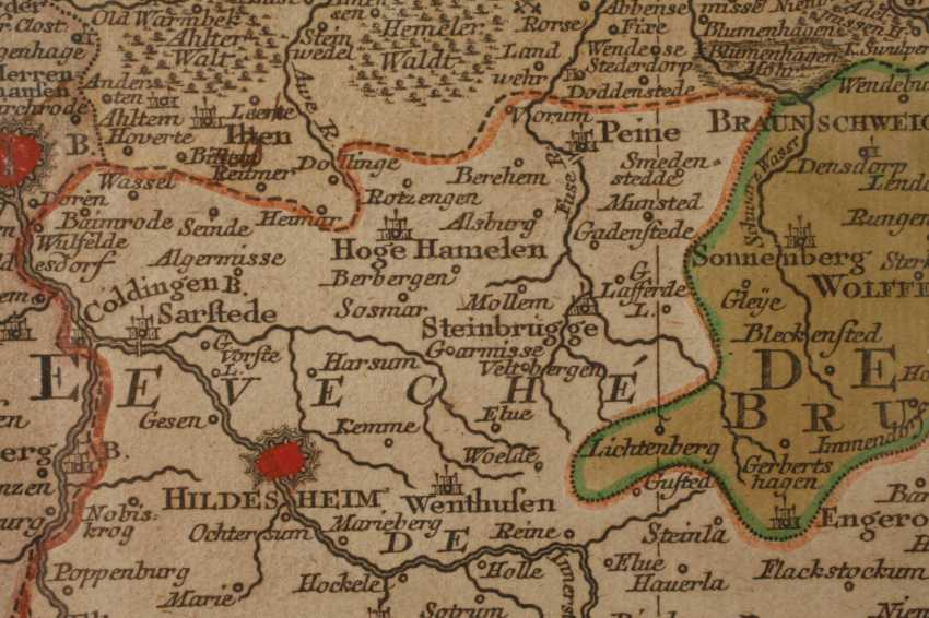 Tobias Lotter, Copper Engraving Map Of Northern Germany - photo 4