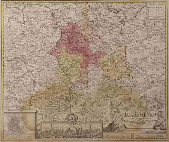 Copper Engraving Map Of Hildesheim - photo 1