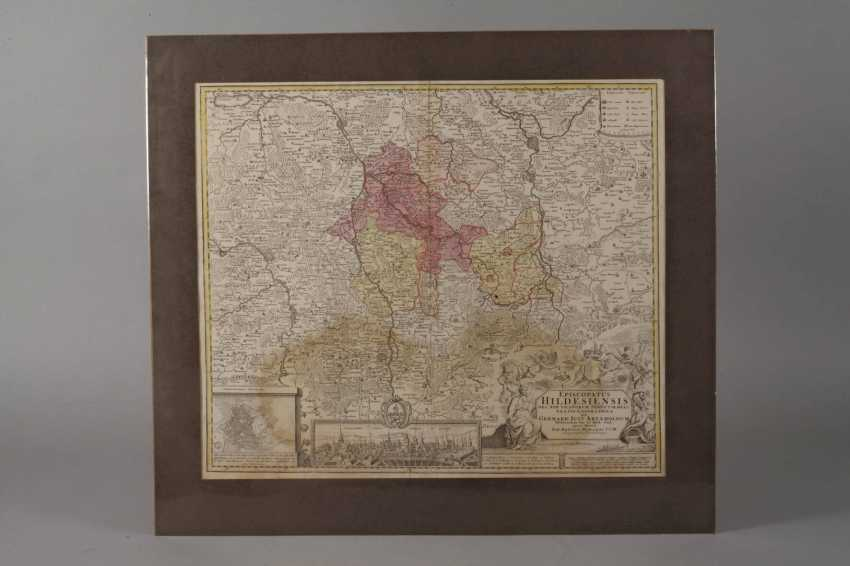 Copper Engraving Map Of Hildesheim - photo 2