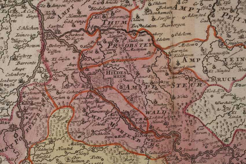 Copper Engraving Map Of Hildesheim - photo 4