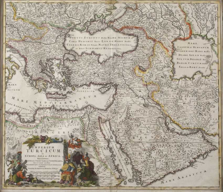 Homanns Heirs, Copper Engraving Map Of The Middle East - photo 1