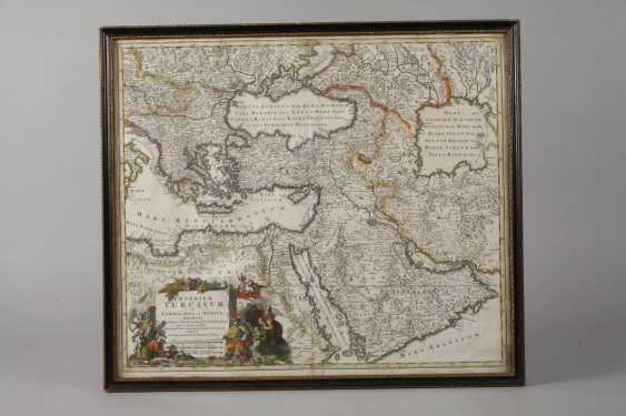 Homanns Heirs, Copper Engraving Map Of The Middle East - photo 2